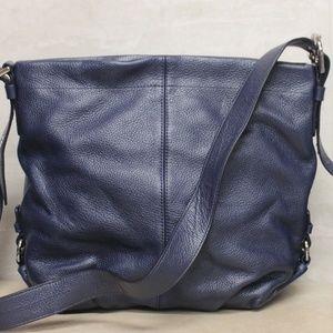 COACH Leather Duffle F15064 Shoulder Bag Blue